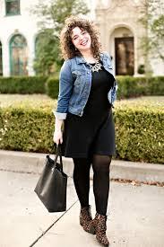 black dress and denim jacket fashion dresses