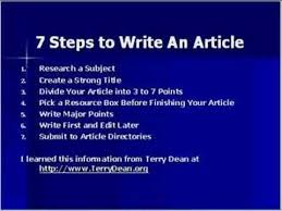 how to write an article youtube