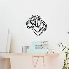 hu2 designer wall stickers wooden wall art wooden sign mini tiger head wooden wall art small tiger 3d wall decor
