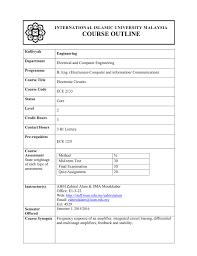 course outline international islamic university malaysia