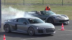 corvette vs audi r8 dragrace nardo grey audi r8 v10 plus vs audi rs6 vs rs3 8v vs