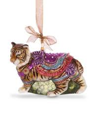 strongwater carousel tiger glass ornament