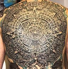 mayan aztec sacred sun calendar tattoo photo 1 photo pictures
