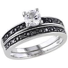black diamond bridal set fingerhut diamond rings