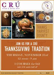thanksgiving at cru food wine bar plano magazine