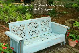 Antique Metal Glider Annie Sloan Chalk Paint Tutorial Series For Outdoor Pieces