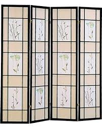 big deal on coaster oriental floral accented 4 panel room screen