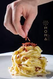 mora cuisine fettuccine pasta at mora restaurant