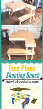 Build A Picnic Table Instructions by How To Build A Shooting Bench Step By Step Plans And