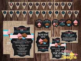 Baby Shower For Second Baby Different Gender Cupcake Or Stud Muffin Gender Reveal Party Package Includes