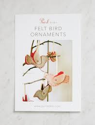 felt bird ornaments pattern