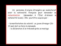 demande de naturalisation par mariage qu est ce qui te différencie d autrui autrui l autre ppt