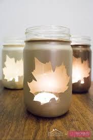 craftaholics anonymous diy fall leaf mason jar luminaries tutorial