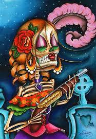 bonita by dave sugar skull skeleton canvas