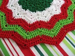 free crochet christmas tree skirt patterns christmas lights