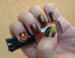 sparkling jack o lantern halloween nails a sparkly life for me