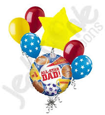 fathers day balloons holographic all sports happy s day balloon bouquet