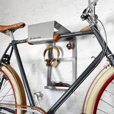 bike wall mount bikedock urban grey alu artivelo english