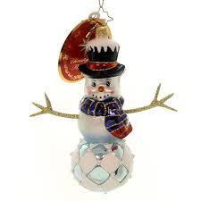 christopher radko adam gem snowman ornament the