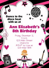 Invitation Card Party Birthday Dance Party Birthday Invitations Cimvitation