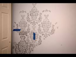 wall stencils for bedrooms stencils for walls paint stencils for walls lowes youtube