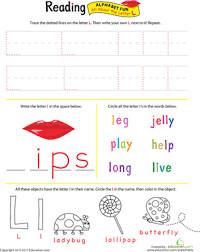get ready for reading all about the letter l worksheet