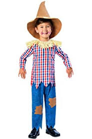 scarecrow with hat kids costume 7 9 years pretend to bee