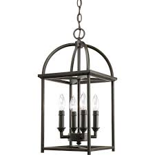Foyer Pendant Light Fixtures Progress Lighting Piedmont Collection 4 Light Burnished Silver