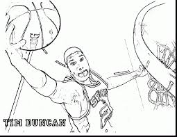 unbelievable basketball player coloring pages with nba coloring