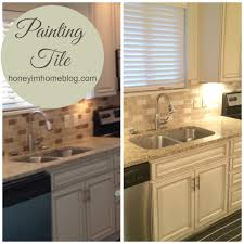 kitchen tile paint ideas how to paint a ceramic tile backsplash countertop