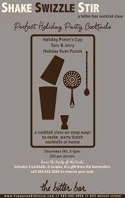 hatch print design cocktail class poster png