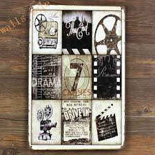 home movie theater signs decorative art home decor ideas