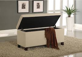 Contemporary Upholstered Bench Tufted Storage Bench