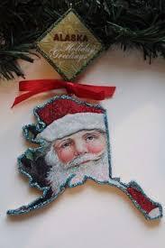 california 50 states patriotic wood christmas ornament vintage