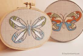 modern embroidery patterns kaleidoscope butterfly embroidery