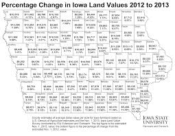 Iowa State Campus Map by Farmland Value Reaches Historic 8 716 Statewide Average Iowa