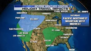 Portland Weather Map by Holiday Travel Daily Forecast And Impacts Across The Country