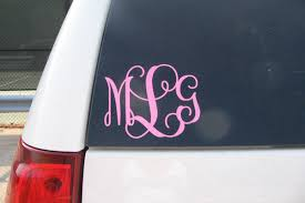monogram car decal vinyl decals