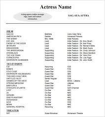 Acting Resume Maker Best 25 Acting Resume Template Ideas On Pinterest Good Resume