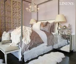 mirror nightstand contemporary bedroom