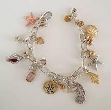 marine jewelry brighton shoreline charm bracelet seahorse shells marine jewelry