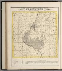 Michigan Township Map by Plainfield Township Town 36 N Range 9 E Will County Illinois
