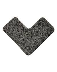 Ultra Absorbent Bath Mat Shaggy Ultra Absorbent L Shape Bath Mat Jacamo