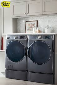 Samsung Blue Washer And Dryer Pedestal Samsung 2 Piece Front Load Laundry Suite 5 2 Cu Ft Washer And 7 5