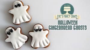 halloween gingerbread ghosts using fondant youtube