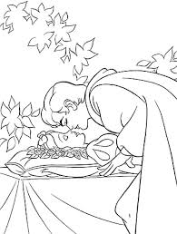 coloring pages snow white dwarfs kids coloring