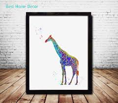hanging posters without frames giraffe art print original watercolor poster giraffe wall art