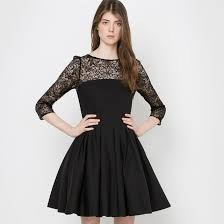 robe patineuse mariage robe patineuse dentelle joli dos noir mademoiselle r la redoute