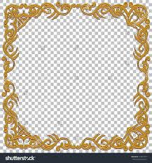 vector border golden frame gems oriental stock vector 410034319
