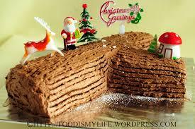 merry christmas u2013 chocolate log cake food and drink